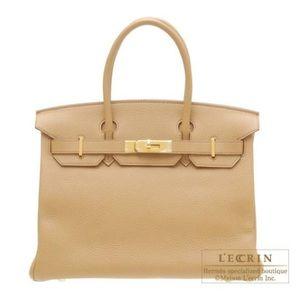 HERMES | Birkin bag in tobac camel leather